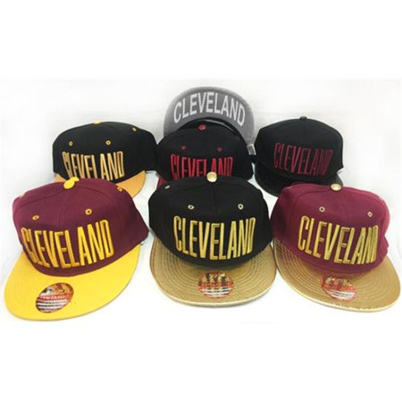 DDI 1922540 Snap Back Flat Bill Cleveland Assorted Colors Hat Case of 24