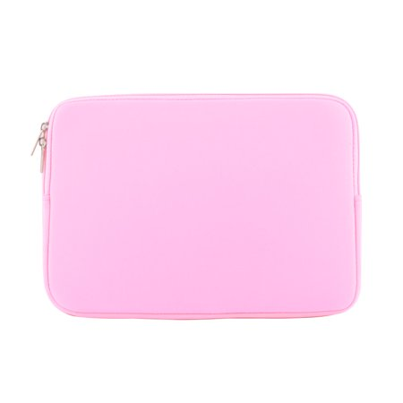Neoprene Dual Zipper Carry Pouch Laptop Sleeve Pink for MacBook Pro Air 12 Inch - image 3 of 3