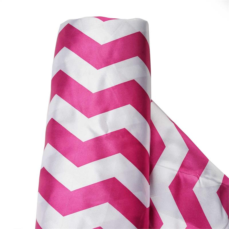 Efavormart 54 inch x 10 yards Chevron Satin Fabric Bolt Sewing Craft Bridal Supplies For Wedding Party Banquet Event