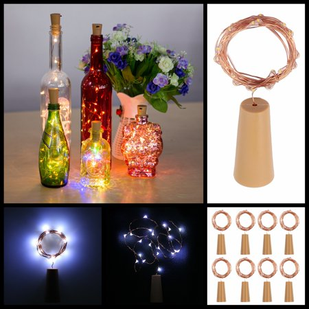 Esynic 20 Led Cork Shaped Led Night Starry Light Wine Bottle Lamp Fairy Lights For Xmas Party Easte Wedding Diy Decoration 8pcs