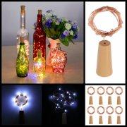 ESYNIC 20 LED Cork Shaped LED Night Starry Light Wine Bottle Lamp Fairy Lights for Xmas Party Easte Wedding DIY Decoration 8pcs