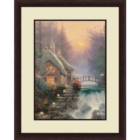 Thomas Kinkade Moonlight Cottage - Thomas Kinkade,Sweetheart Cottage, 16x20 Decorative Wall Art