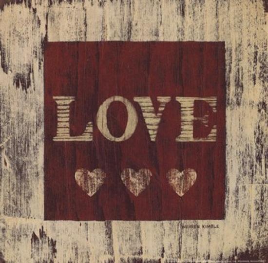 Love Poster Print by Warren Kimble (10 x 10)