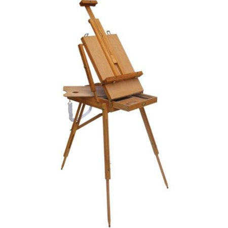 (4Less French Easel Wooden Sketch Box Portile Folding Art Artist Painters Tripod)