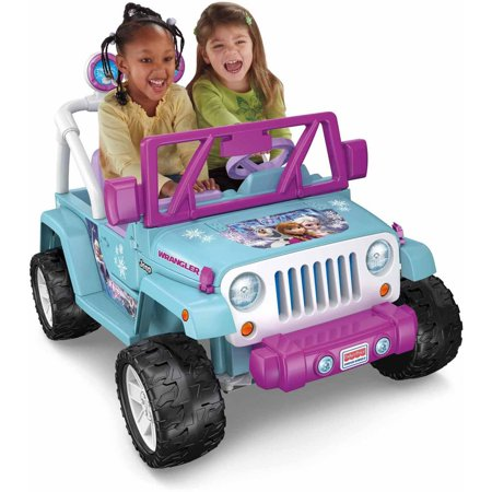 Power Wheels Disney Frozen Jeep Wrangler 12V Battery-Powered