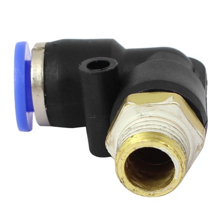 PL6-01 Tube Elbow Pneumatic L Shaped Connectors Quick Connect Fittings 2pcs - image 1 of 4
