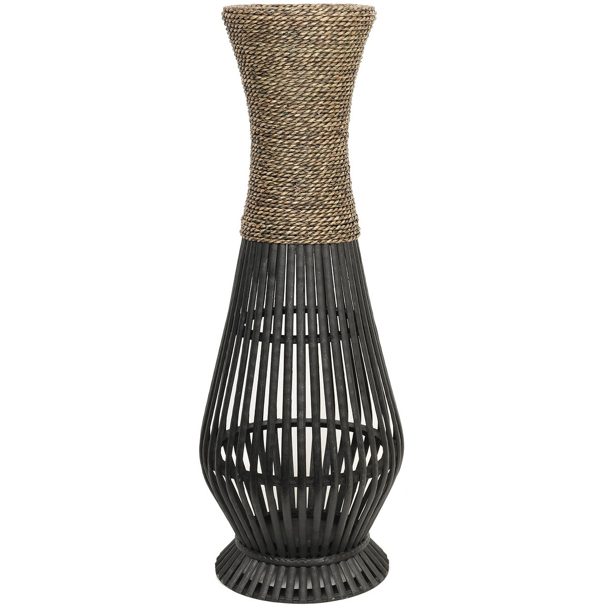 Hosley natural bamboo seagrass vase home decor flower tall for Decoration vase