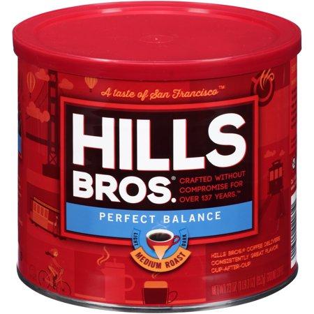 Hills Bros. Perfect Balance Half-Caffeine Ground Coffee, Medium Roast, 23 Ounce -