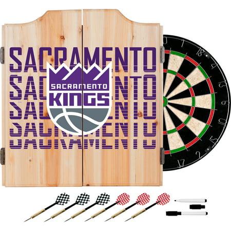 NBA Dart Cabinet Set with Darts and Board - City - Sacramento