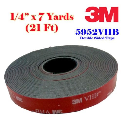 Genuine 3m 1 4 Quot 6mm X 21 Ft 7 Yards Vhb Double Sided