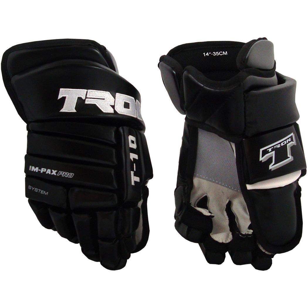 Tron T-10 Hockey Gloves (Black)