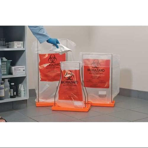 BEL-ART - SCIENCEWARE F13160-0009 Autoclavable Biohazard Bag, Clear, PK 100