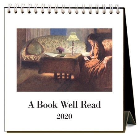 2020 Book Well Read Easel Calendar, by Found Image Press