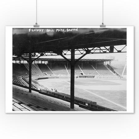 Fenway Park, Boston - Red Sox, Baseball Photo #3 - Vintage Photograph (9x12 Art Print, Wall Decor Travel Poster)