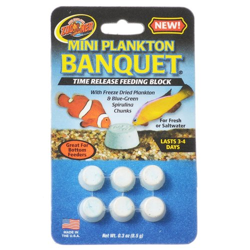 Zoo Med Aquatic Plankton Banquet Time Release Feeding Block