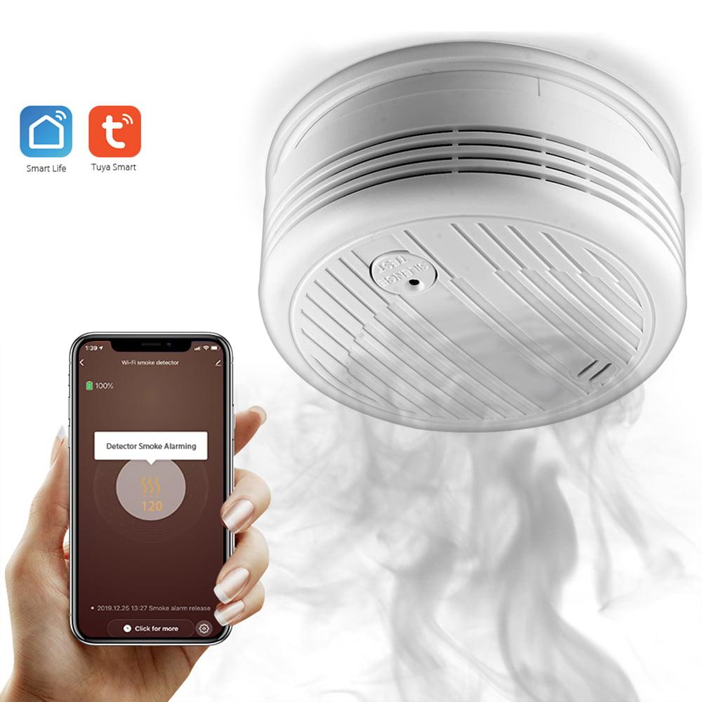 Details about  /WiFi Smoke Detector Fire Sensor Firefighters Alarm Security Tuya Smart Life App