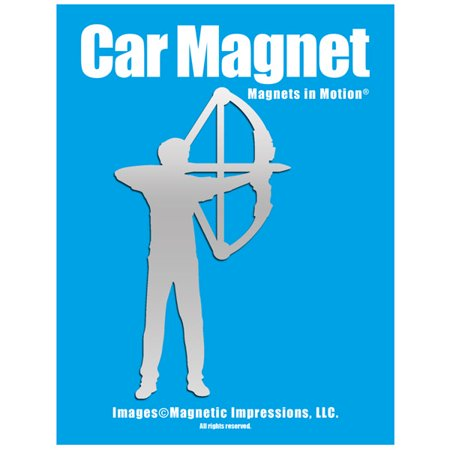 Archery Compound Bow Men's Car Magnet Chrome thumbnail