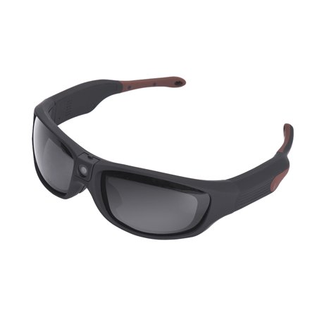 Sunshine IP55 Waterproof Smart Video Recording Sunglasses 1080P FHD Outdoor Sports Action Camera with Polarized UV Protection Safety Lenses Sport Design (Smart Camcorder)
