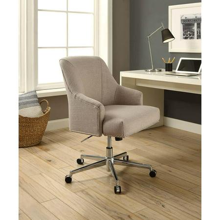 Serta Style Leighton Home Office Chair Beige Twill Fabric
