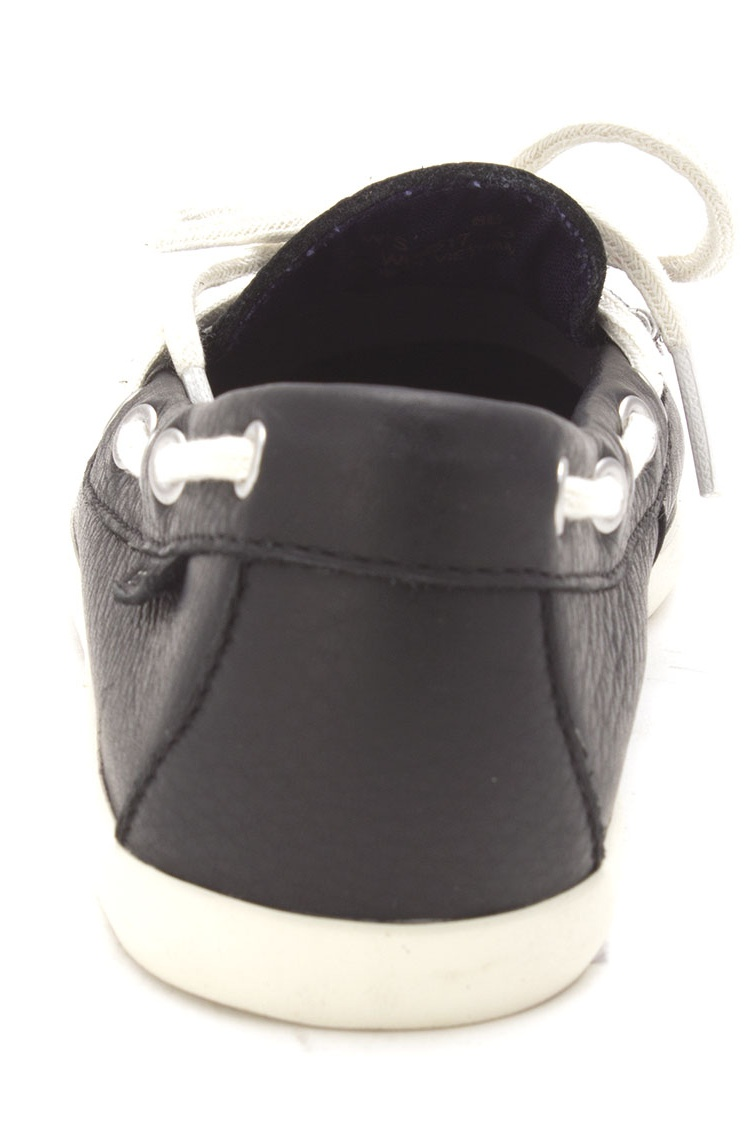 Cole Haan Womens W02517 Closed Toe Boat Shoes, Black, Size 6.0