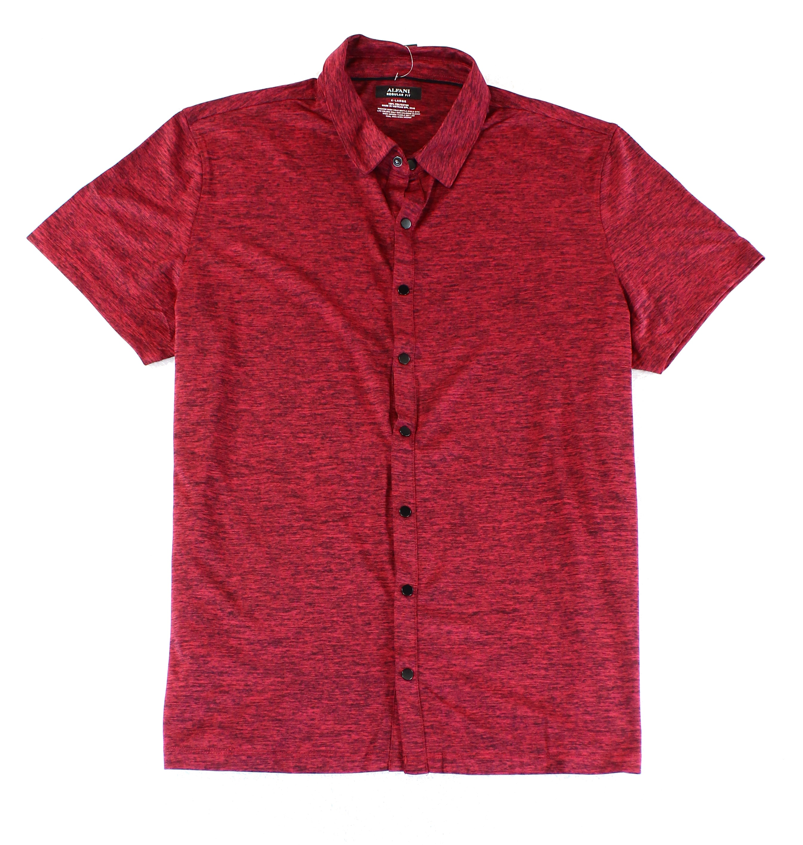Alfani NEW Clay Red Heather Mens Size XL Regular Fit Button Down Shirt