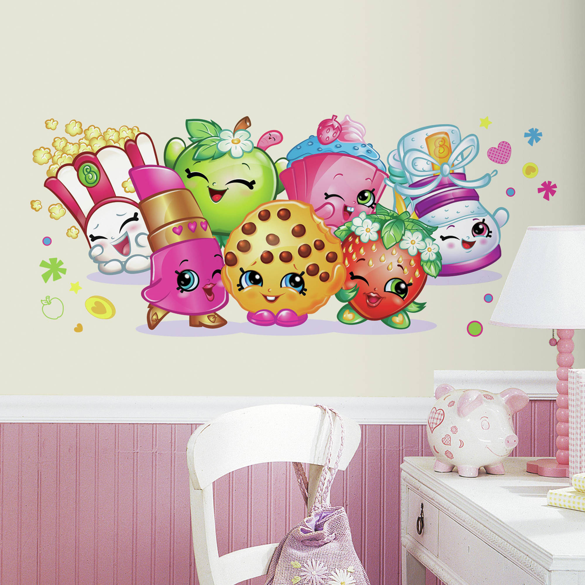 RoomMates Shopkins Burst Peel and Stick Giant Wall Decals