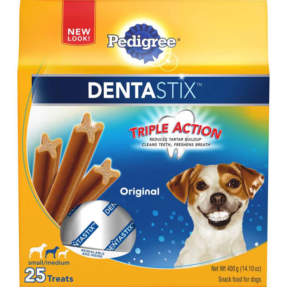 PEDIGREE DENTASTIX Original Small/Medium Treats for Dogs - 14.1 Ounces 25 Treats