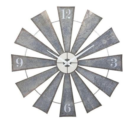 Smart Ward Metal Windmill Wall Clock