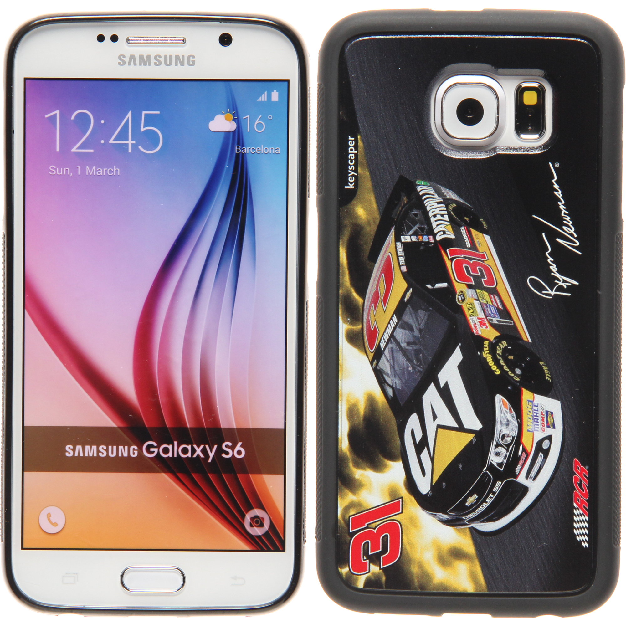 Ryan Newman 31 Caterpillar Galaxy S6 Bumper Case