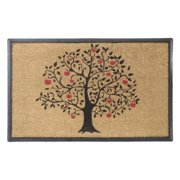 """First Impressions Rubber & Coir Large Size Double Doormat with Tree Design, 30"""" L x 48"""" W"""