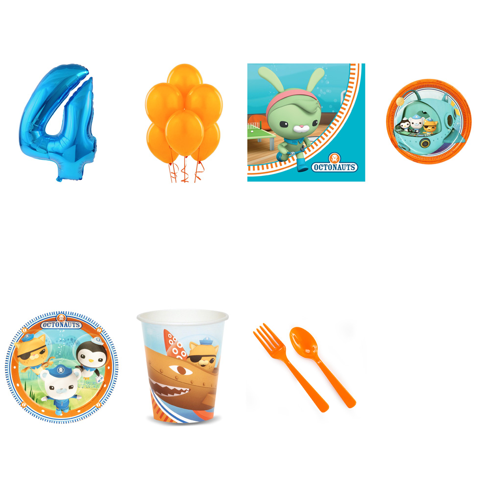 OCTONAUTS PARTY SUPPLIES PARTY PACK FOR 32 WITH BLUE #3 BALLOON