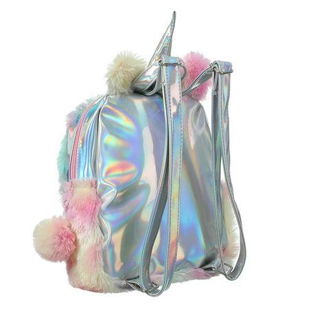 7b77f1c5280 KABOER Cute Plush Unicorn Backpack, Mini Unicorn Backpack, 3D Unicorn  Backpack, Soft Rainbow Backbag Sweet Girls Daughter Gifts