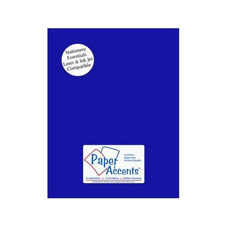 - Lite Stock 8.5x11 60lb Text 25pc Royal Blue
