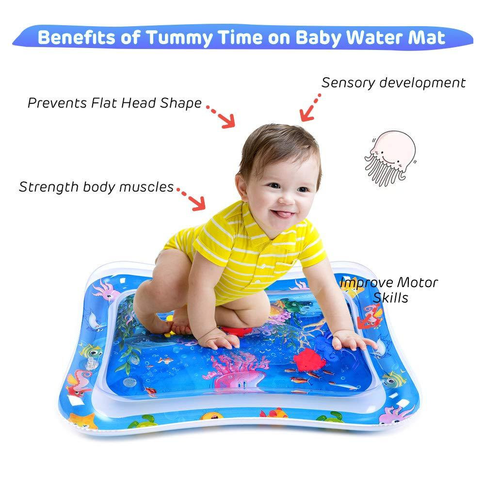 MengNi Tummy Time Baby Water Play Mat Infant Toys Baby Toys for 3 6 9 Months Baby Gifts