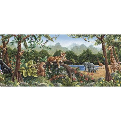 4 Walls Rainforest Mural 15' x 12'' Wildlife Border Wallpaper