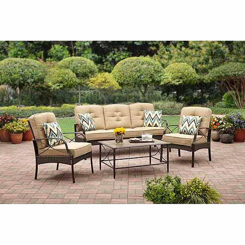 4 patio conversation set seats 5 walmart