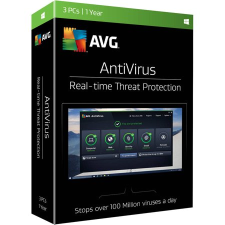 Avg Antivirus  3 Users  1 Year