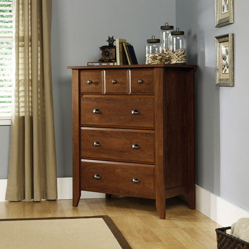 Sauder Shoal Creek 4 Drawer Chest, Oiled Oak Finish