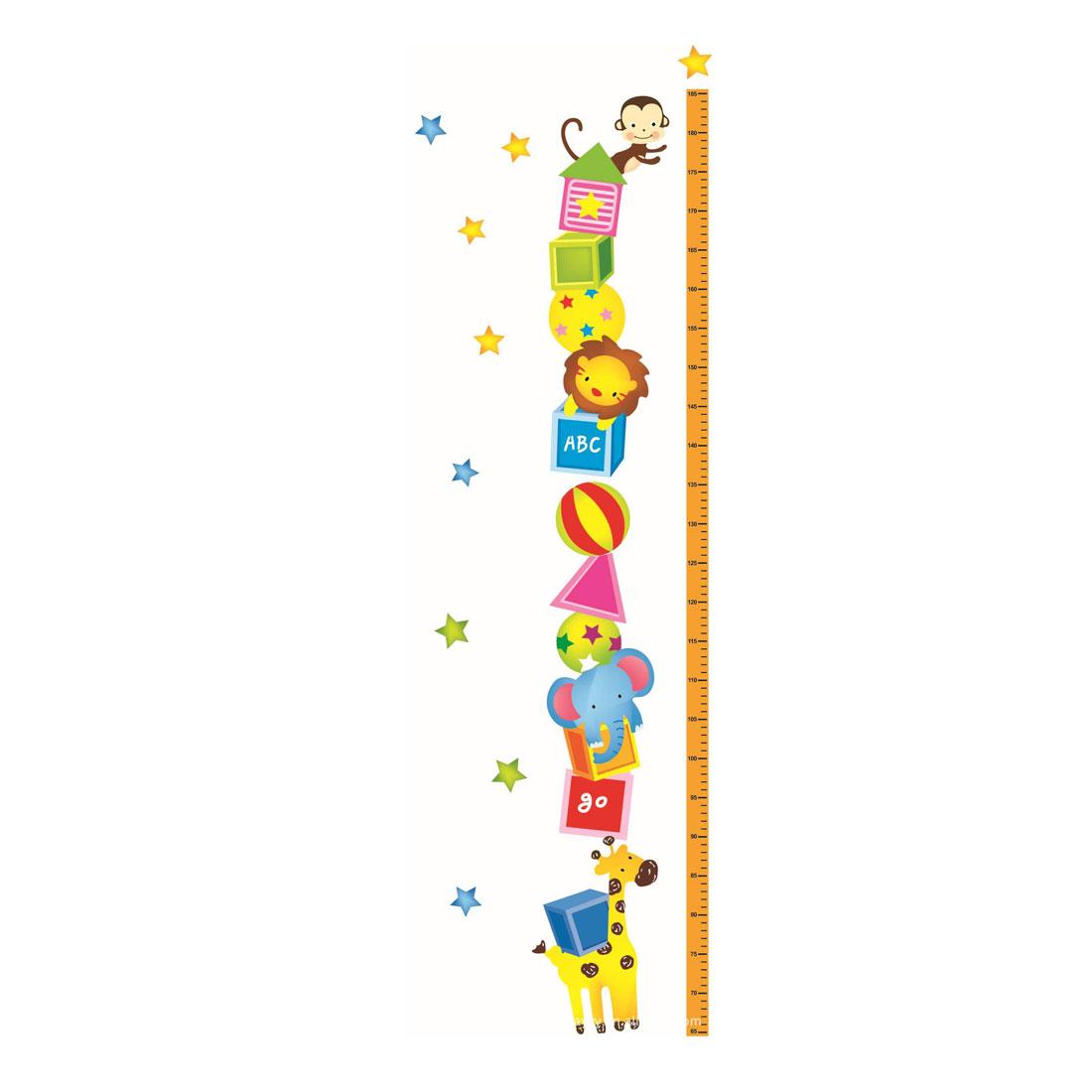 Cartoon Growth Height Measure Chart Pattern Wall Sticker DIY Wallpaper