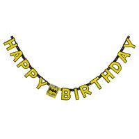 Batman Happy Birthday Party Banner, 6.59 ft.