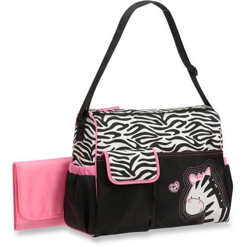 Baby Boom Duffle Diaper Bag, Zebra Print by Baby Boom