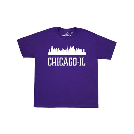 Chicago Illinois Skyline IL Cities Youth T-Shirt