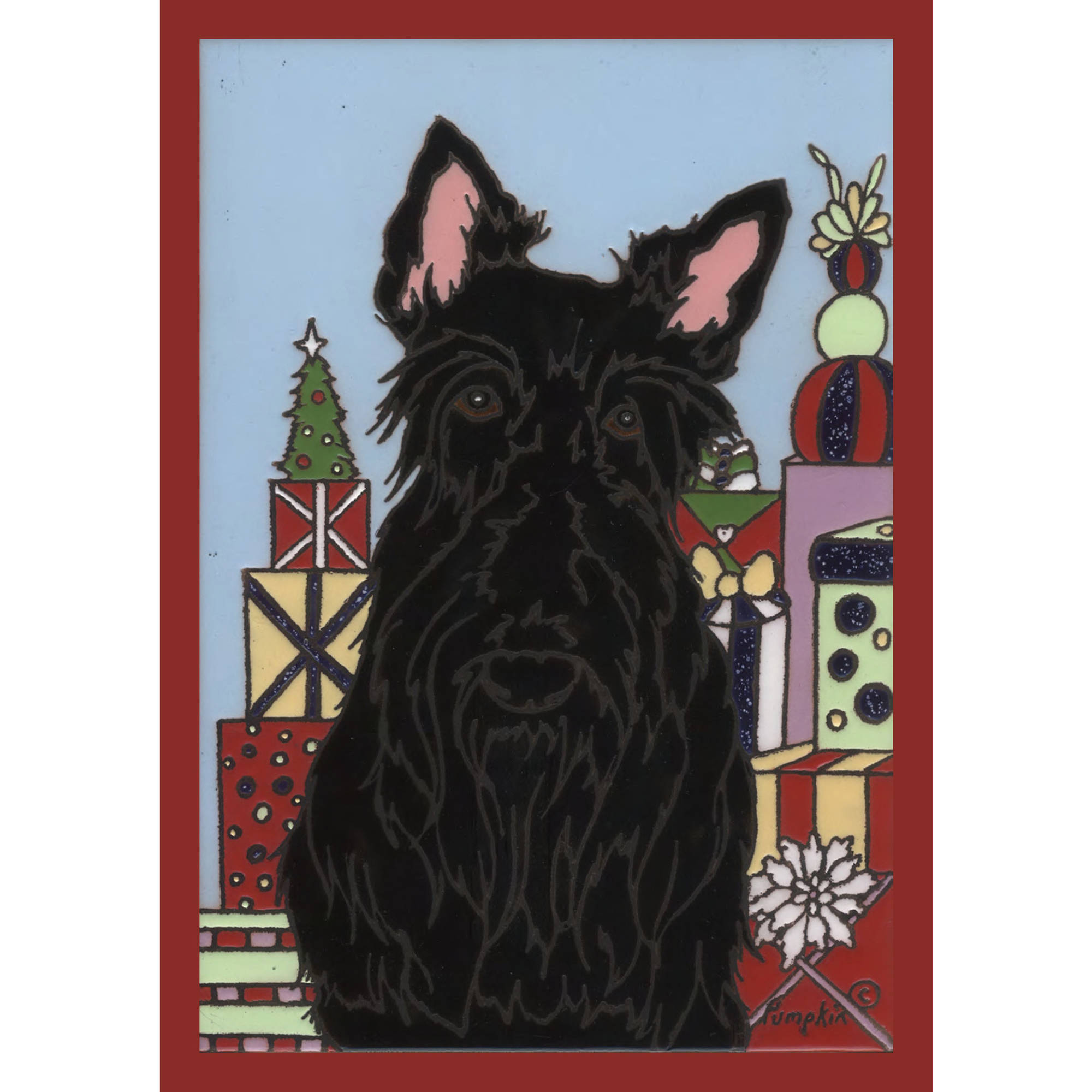 The Cranford Group Black Scottie Garden Flag
