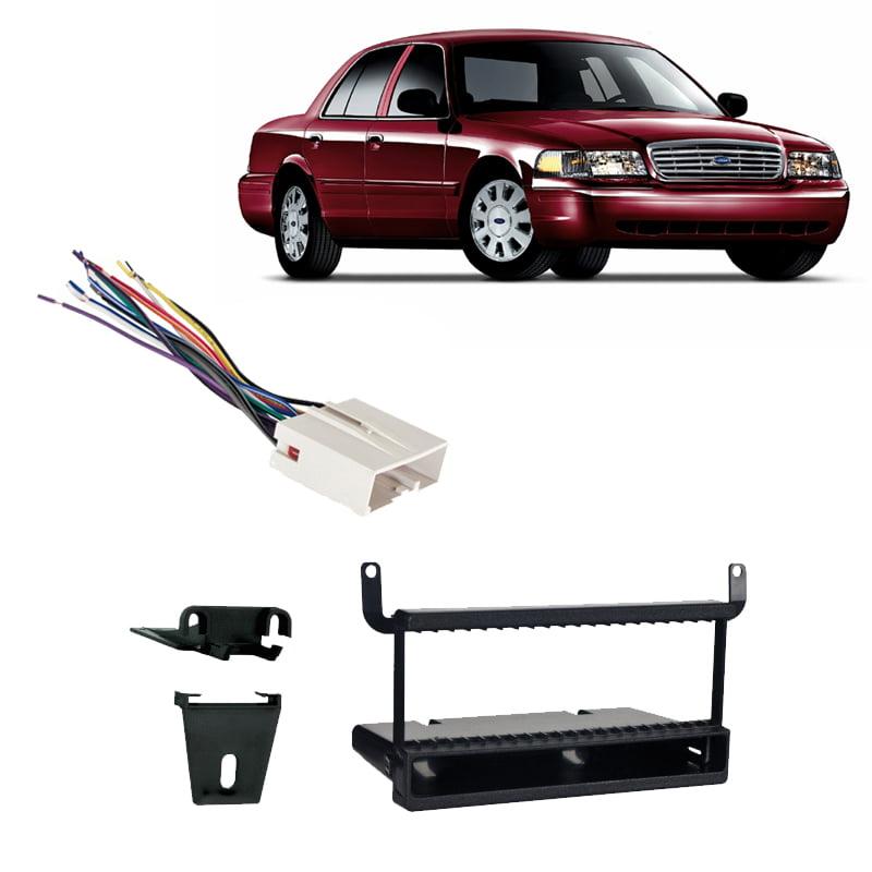 Fits Ford Crown Victoria 2003-2011 Single DIN Car Harness Radio Dash Kit
