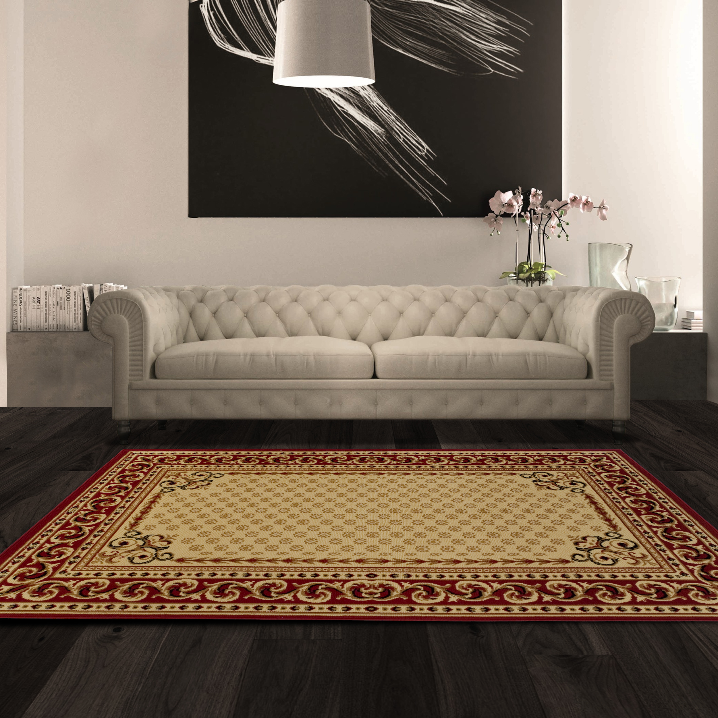 Superior Longfield Moisture Resistant, Anti-Static Indoor Area Rug