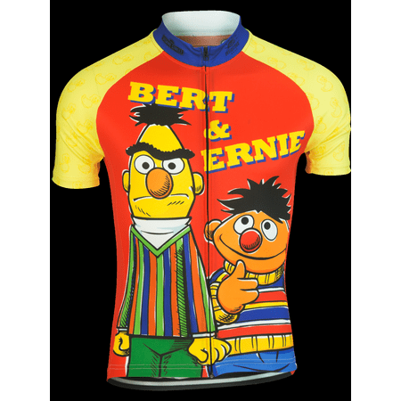 Brainstorm Gear Men's Bert & Ernie Cycling Jersey - SSBE-M (Bert And Ernie Halloween Costumes For Adults)
