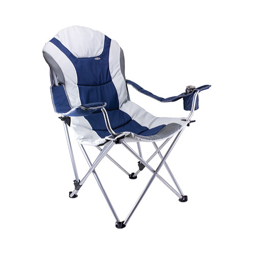 Reclining Camping Chair in Black and Gray
