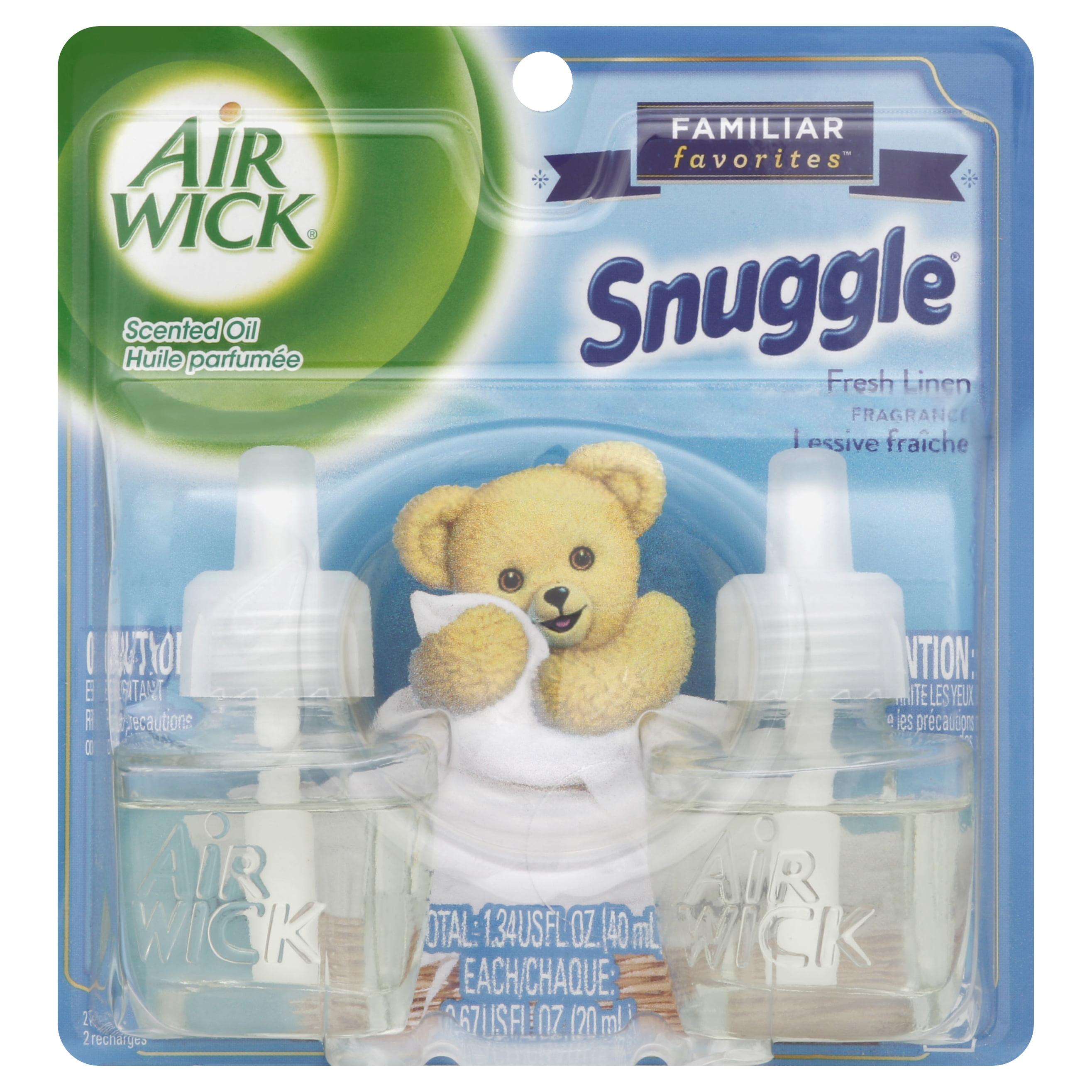 Air Wick Scented Oil Twin Refill Snuggle Fresh Linen (2X.67) Oz.