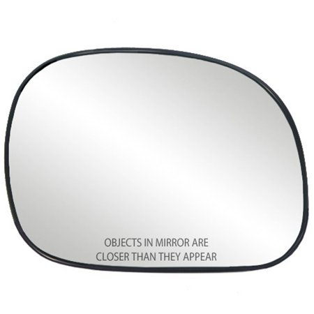80034 - Fit System Passenger Side Non-heated Mirror Glass w/ backing plate, Ford Expedition, Navigator 97-02, F150, F250 LD Pick-Up 97-03, F150 Heritage 97-04, no signal, will fit Mirrors w/ signal Ford F150 Mirror Glass