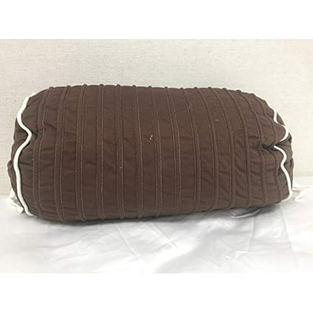 Bed Bath & Beyond Brown Bolster w/White Piping, 18